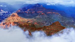 Fotos Grand Canyon Park Vereinigte Staaten Park Wolke Felsen