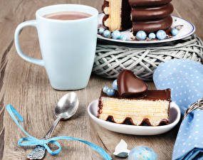 Wallpapers Hot chocolate drink Cake Chocolate Cup Spoon Heart Bowknot