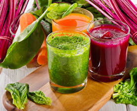 Pictures Vegetables Smoothy Highball glass Three 3 Food