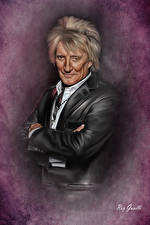 Wallpapers Men Painting Art Costume Rod Stewart