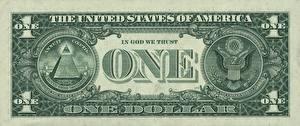Fotos Geld Großansicht Dollars Geldscheine Makro ONE 1 IN GOOD WE TRUST