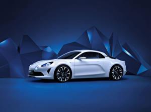 Wallpapers Renault White Metallic 2016 Alpine Vision Cars