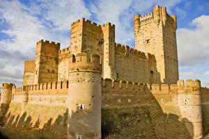 Wallpaper Spain Castles Castillo de La Mota Cities