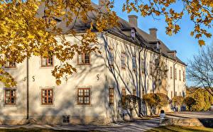 Hintergrundbilder Schweden Burg Herbst
