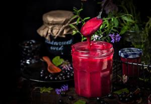 Photo Sweets Varenye Blueberries Jar Food
