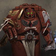 Fotos Warhammer 40000 Helm Rüstung Space Marine computerspiel Fantasy