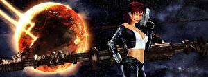 Fonds d'écran Guerrier Pistolet X3 Reunion Jeux Сosmos Filles