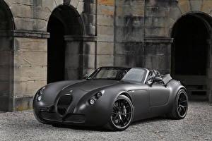 Обои Wiesmann Серая Кабриолета Родстер 2011 Roadster MF5 Black Bat автомобиль