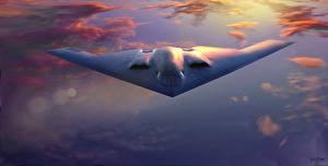 Bilder Flugzeuge Bomber US Spirit B-2A