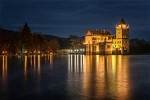 Pictures Austria Rivers Castles Coast Night time Anif Castle Cities
