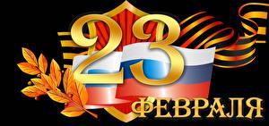 Fotos Tag des Verteidigers des Vaterlandes Feiertage Schwarzer Hintergrund Russische