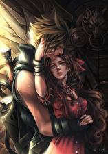 Fonds d'écran Final Fantasy VII Amour Couples dans l'amour 2 Adolescent Cloud, Aerith Jeux Fantasy Filles