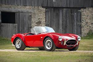 Bilder Ford Antik Rot Metallisch Shelby Cobra, 1966, 427 Autos