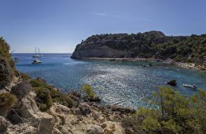 Bilder Griechenland Küste Felsen Kleine Bucht Rhodos Natur