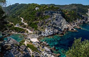 Bilder Griechenland Küste Stein Agios Ioannis Beach Natur