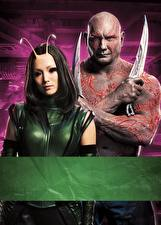 Wallpapers Guardians of the Galaxy Vol. 2 Men Knife Aliens Two Drax, Mantis film Celebrities