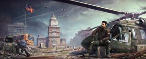 Hintergrundbilder Homefront Mann Hubschrauber The Revolution computerspiel