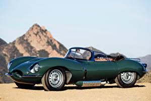 Hintergrundbilder Jaguar Grün Cabriolet Metallisch 2016 XKSS Continuation Autos