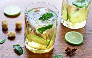Picture Lime Highball glass Mentha Ice Food
