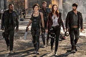 Pictures Milla Jovovich Man Resident Evil: The Final Chapter Ali Larter Eoin Macken Movies Celebrities Girls