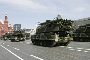 Pictures Missile launchers Holidays Victory Day 9 May Military parade Russian