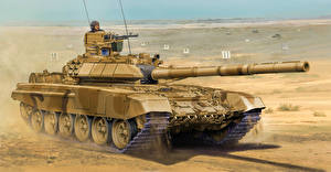 Image Painting Art Tank T-90 Army