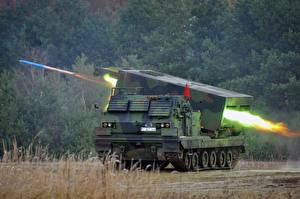 Wallpapers Rocket Missile launchers Firing Military disguise German