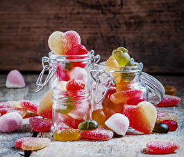 Picture Sweets Candy Marmalade Jar Heart Food