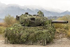 Wallpapers Tank Leopard 2 Military disguise