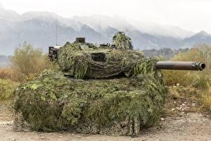 Bureaubladachtergronden Tank Leopard 2 Camouflage