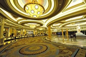 Bilder Vereinigte Staaten Innenarchitektur Las Vegas Luxus Decke (Bauteil) Lüster Spielbank Caesars Palace