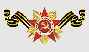 Pictures Victory Day 9 May Vector Graphics Holidays Order medal Russian