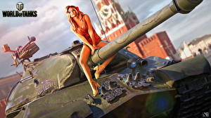 Fonds d'écran Char de combat World of Tanks Nikita Bolyakov Russes IS-3 Jeux Filles
