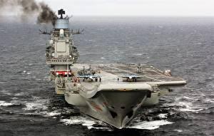 Wallpaper Aircraft carrier Ships Russian Admiral Kuznetsov Army