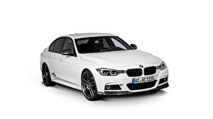 Wallpaper BMW White White background Sedan F30 AC Schnitzer 3-Series Cars