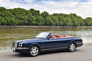 Fotos Bentley Blau Cabriolet Metallisch Luxus 1995-2002 Azure Autos