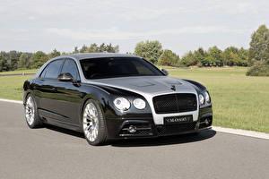 Bilder Bentley Fahrzeugtuning Schwarz Metallisch Luxus 2014-16 Mansory Continental Flying Spur