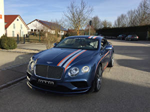 Wallpapers Bentley Tuning Blue Metallic 2017 MTM Continental GT Birkin Speed Eight Cars
