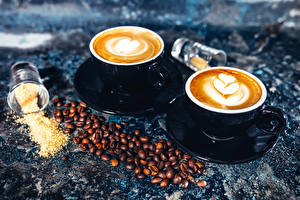 Wallpapers Coffee Cappuccino Cup Two Grain Saucer Food