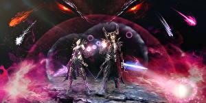 Photo Diablo 3 Warriors Sorcery vdeo game Fantasy