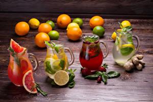 Photo Drinks Lemons Strawberry Lemonade Grapefruit Pitcher