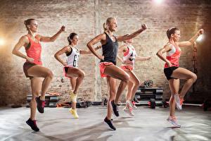 Hintergrundbilder Fitness Trainieren Bein Mädchens Sport