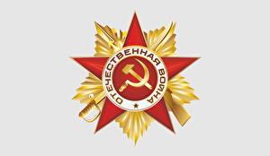 Papel de Parede Desktop Feriados Dia da Vitória 9 de maio Desenho vetorial Fundo branco Ordem medalha Russo