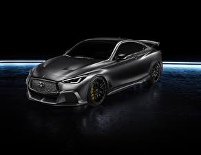 Hintergrundbilder Infiniti Graue 2017 Q60 Project Black automobil