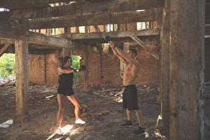 Bilder Mann Fitness Körperliche Aktivität 2 Sport Mädchens