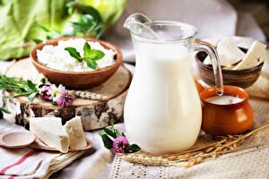 Fotos Milch Käse Topfen Weißkäse Quark Hüttenkäse Kanne