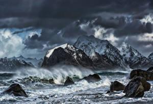Fotos Norwegen Lofoten Wolf Steine Natur