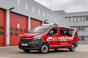 Fotos Opel Rot 2017 Vivaro Combi Feuerwehr Autos
