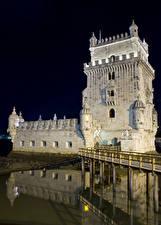 Tapety na pulpit Portugalia Mosty Lizbona Miasto Torre de Belem Lisbon Miasta
