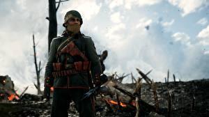 Hintergrundbilder Soldaten Gewehr Militär Schutzhelm Battlefield 1 computerspiel